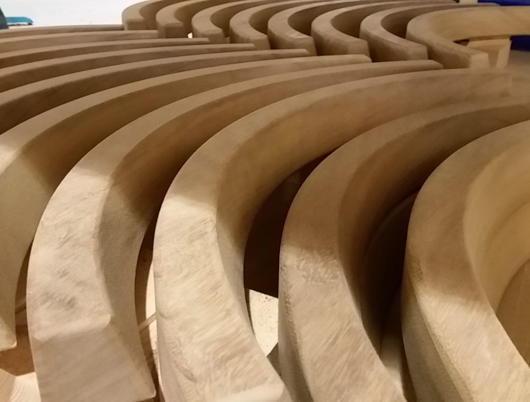 Curved timber CNC machined