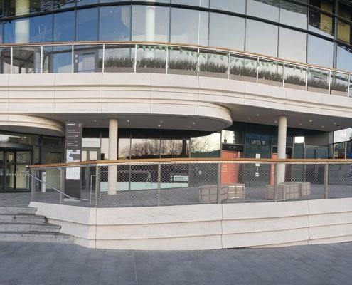 Handrails over two floors