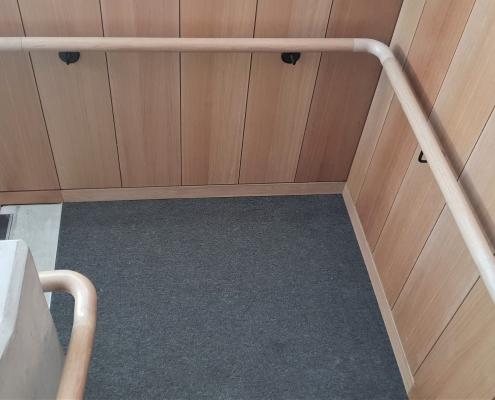 Mopstick Oak handrail corner and ramp sections
