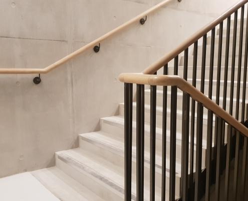 45mm curved Oak mopstick handrails