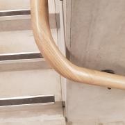 Wreathing section of Oak handrail