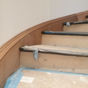 Curved skirting board CNC machined