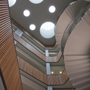 Handrails and spindles in Atrium gallery of school by Handrail Creations