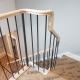 Oak handrail swan neck section