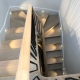 Light Oak curved handrails with Black spindles