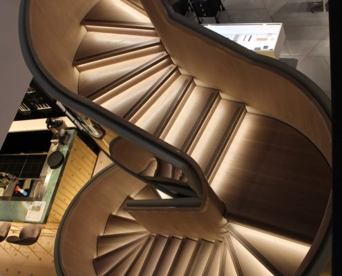 Harvey Nichols Staircase with Oak handrail