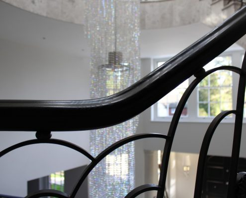 Close up of bespoke handrail & balustrade