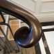 Timber handrail wooden scroll