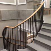 Bespoke Oak handrail with steel balustrade