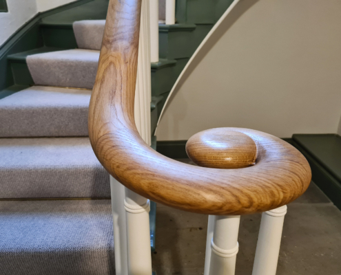 Light timber volute / monkey tail