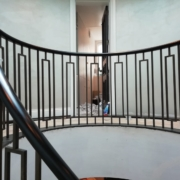 Custom curved Black balustrade