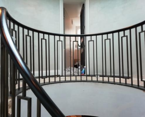 Custom curved Black balustrade