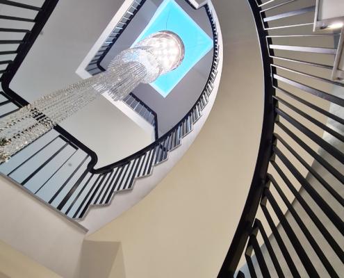 Curved Black balustrade