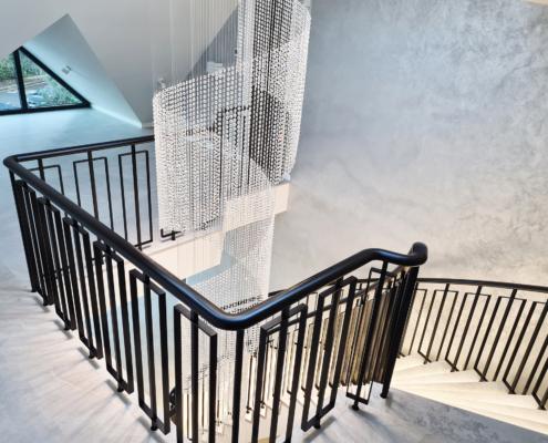 Landing handrail & balustrade in Black