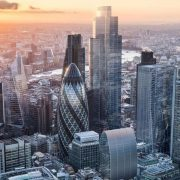 Skyline view of 22 Bishopsgate Skyscraper, secured project